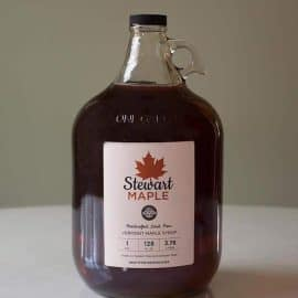 Stewart Maple organic vermont maple syrup glass gallon
