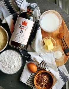 Ingredients of Stewart Maple Cinnamon Buns