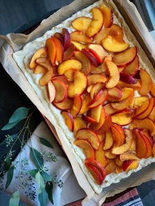 Peach Ricotta Tart Recipe Stewart Maple Glaze
