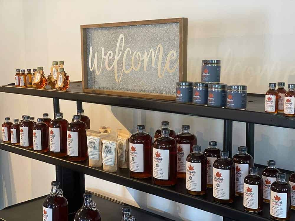 Vermont Maple Syrup Display