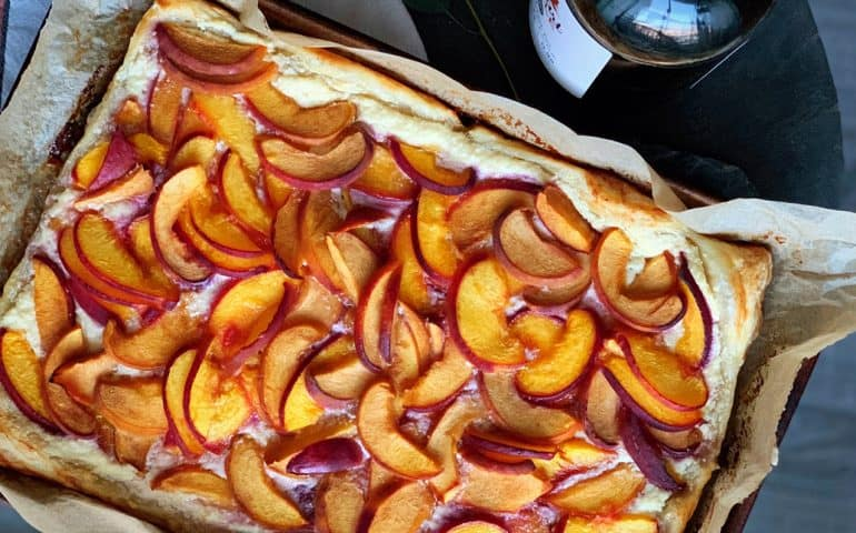 Stewart Maple Peach Ricotta Tart