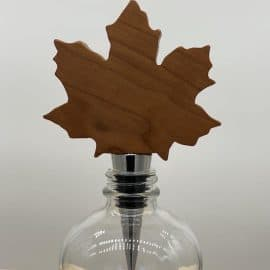 Wooden Leaf Bottle Stopper