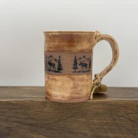 Stone Creek Pottery Mug Shino Moose