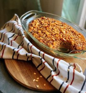 maple apple walnut oatmeal bake