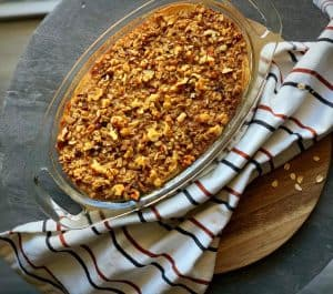 maple apple oatmeal bake