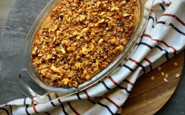 maple apple oatmeal bake