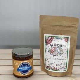 Hot Chocolate with Caramel Duo