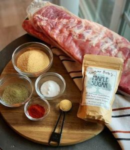 Maple BBQ Ribs Ingredients